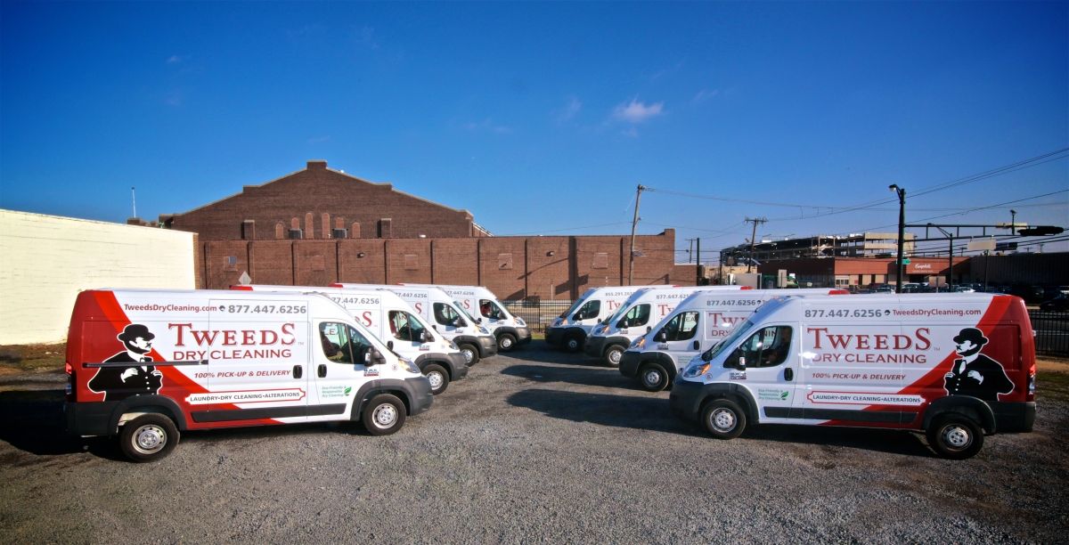 Tweeds Dry Cleaning Vans